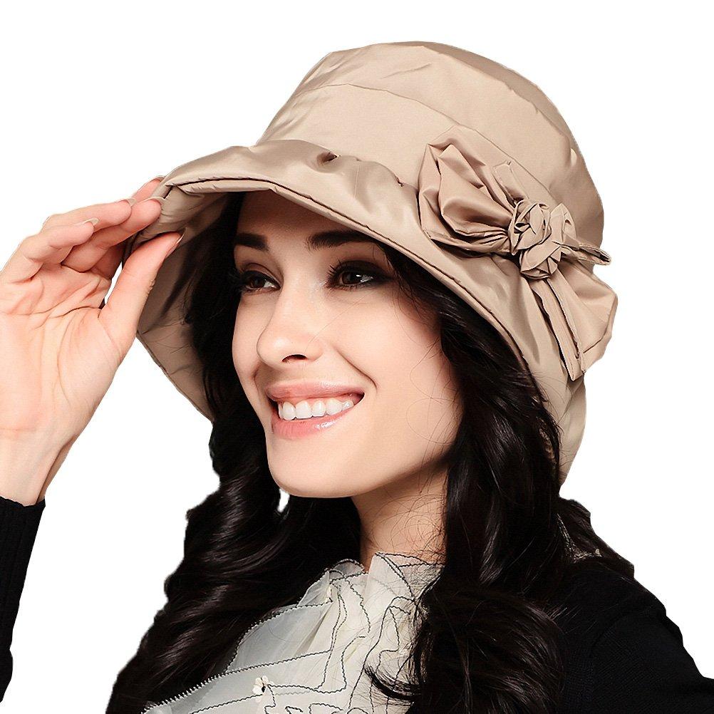 Maitose Trade; Women's Waterproof Windproof Bucket Hat Beige