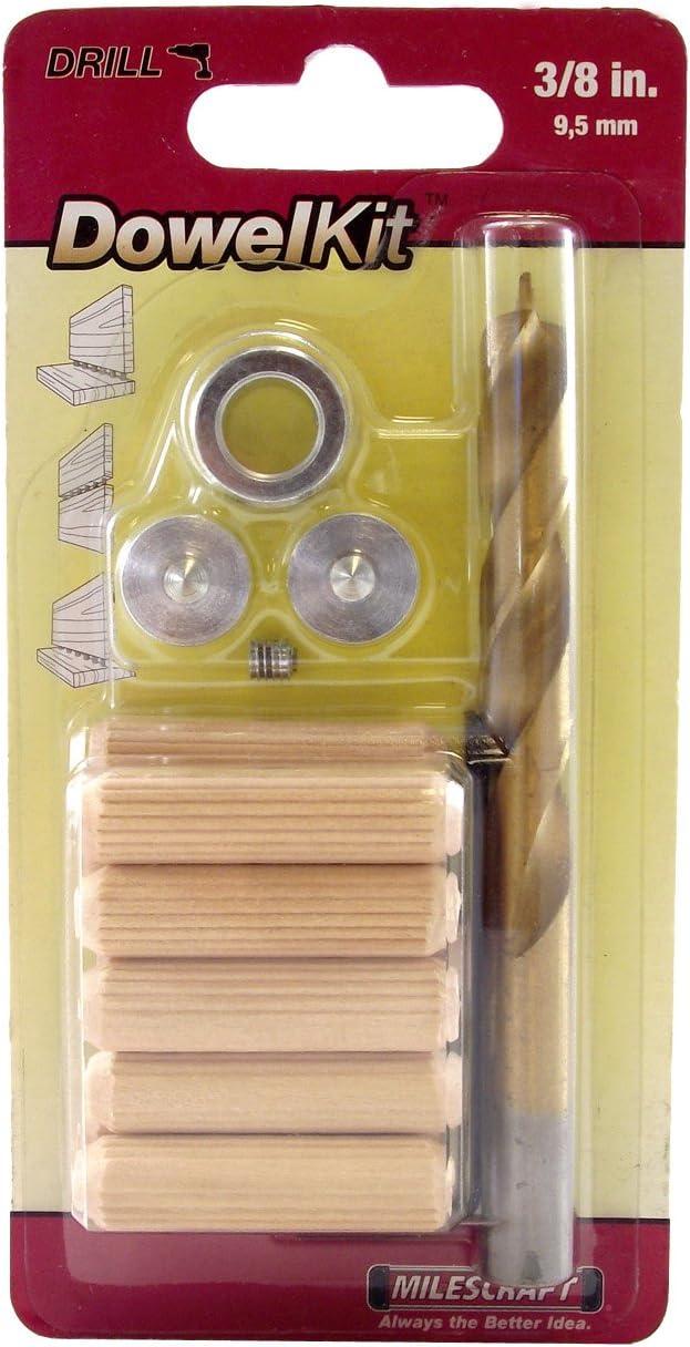 Milescraft 5337 1//4-Inch Dowel Kit