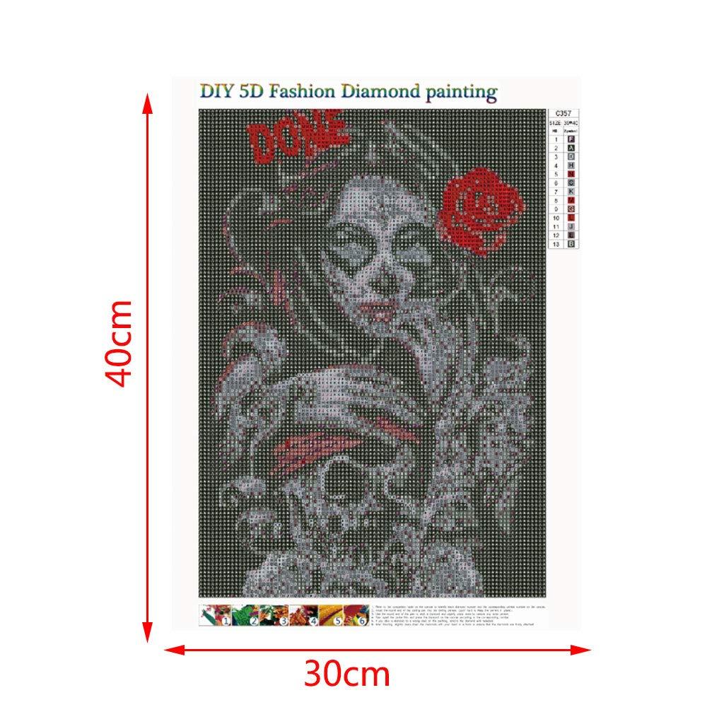 sunhoyu 5D DIY Diamond Painting Malerei Set Full Malerei Crystal Strass Stickerei Painting Diamond Dekoration f/ür Home Wall D/écor M/ädchen C357#