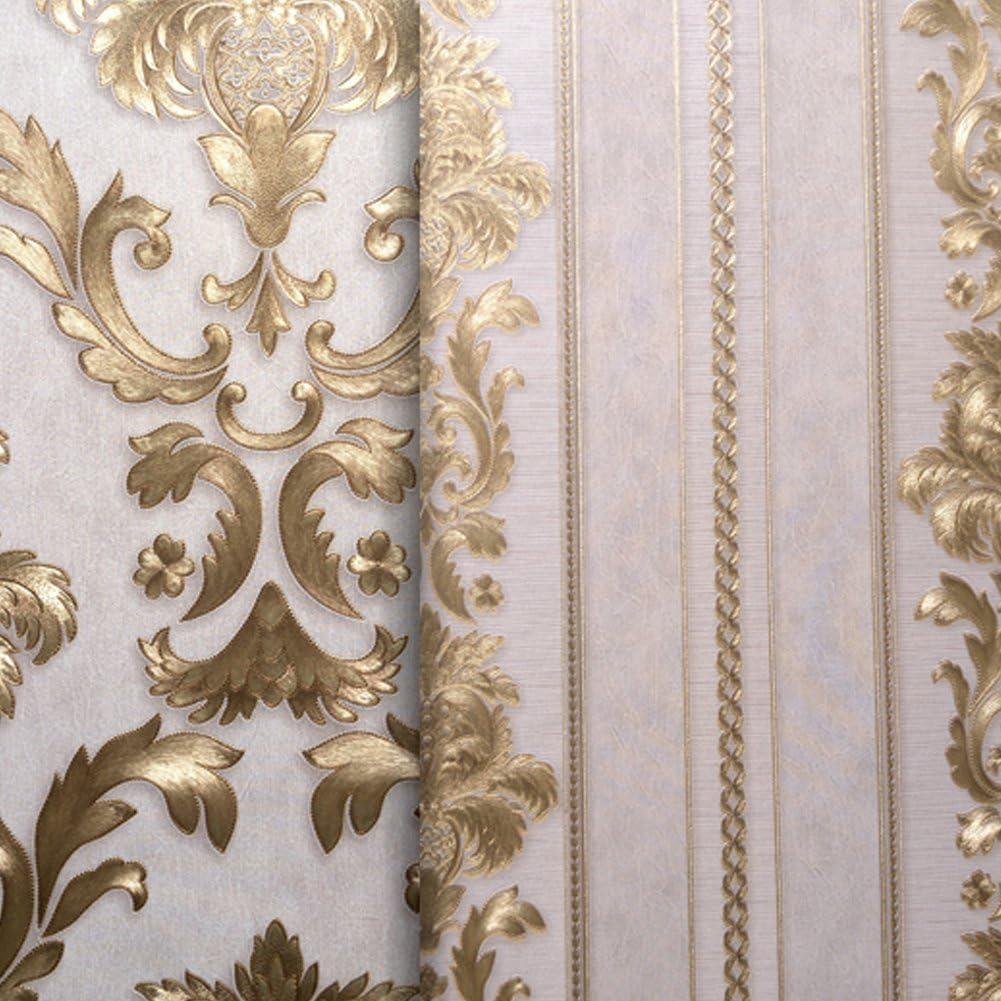 Amazon ヨーロッパ復古豪華レリーフ金色質感壁紙 インテリアシール客間 寝室とテレビの背景の 28 87 X347インチ Dracarys 金色 壁紙