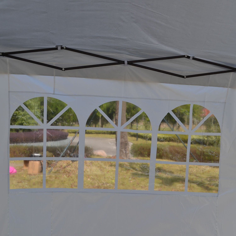 Befied Gartenpavillon 3 x x x 6 m Aluminium Gartenzelt Festzelt Wasserdicht faltbar mit 4 Seitenteilen Seitenwände + Fenster für Garten Hochzeit Party Terrasse Feier Markt (Blau) 06991f