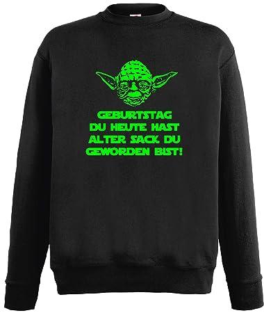 World Of Shirt Star Wars Master Yoda Herren Sweatshirt Geburtstag