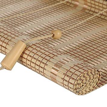 Amazon De Wenzhe Bambusrollo Fenster Sichtschutz Rollos Holzrollo