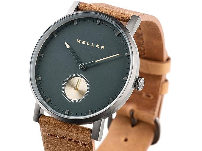 Meller Reloj Analógico para Unisex Adultos de Cuarzo con Correa en Cuero 2G-1CAMEL: Amazon.es: Relojes