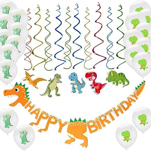 Keleily Decoraciones de fiesta de cumpleaños de dinosaurios ...