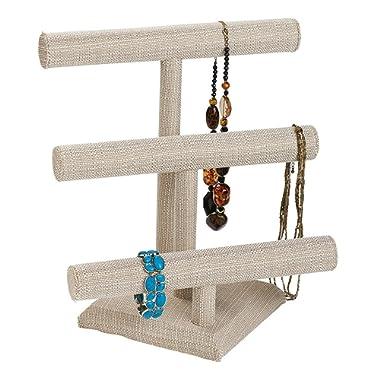 SSWBasics Linen Jewelry Display - 3-Tier