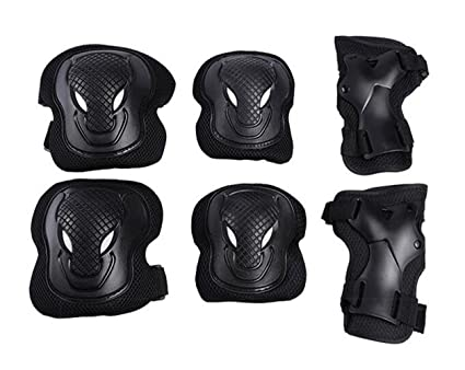 LANOVAGEAR Kids Adult Knee Elbow Pads with Wrist Guard Protective Gear Set  for Multi Sports Cycling ... a591e922d9