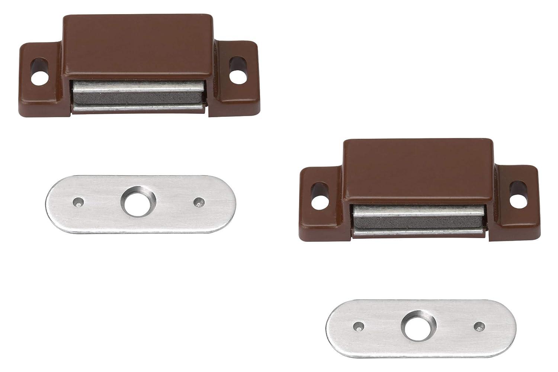 Metafranc Attache magn/étique Plaque arri/ère fixe Convient pour portes de meubles et rabats//fermeture de porte//aimant de maintien//boucles de meuble Montage facile 361006
