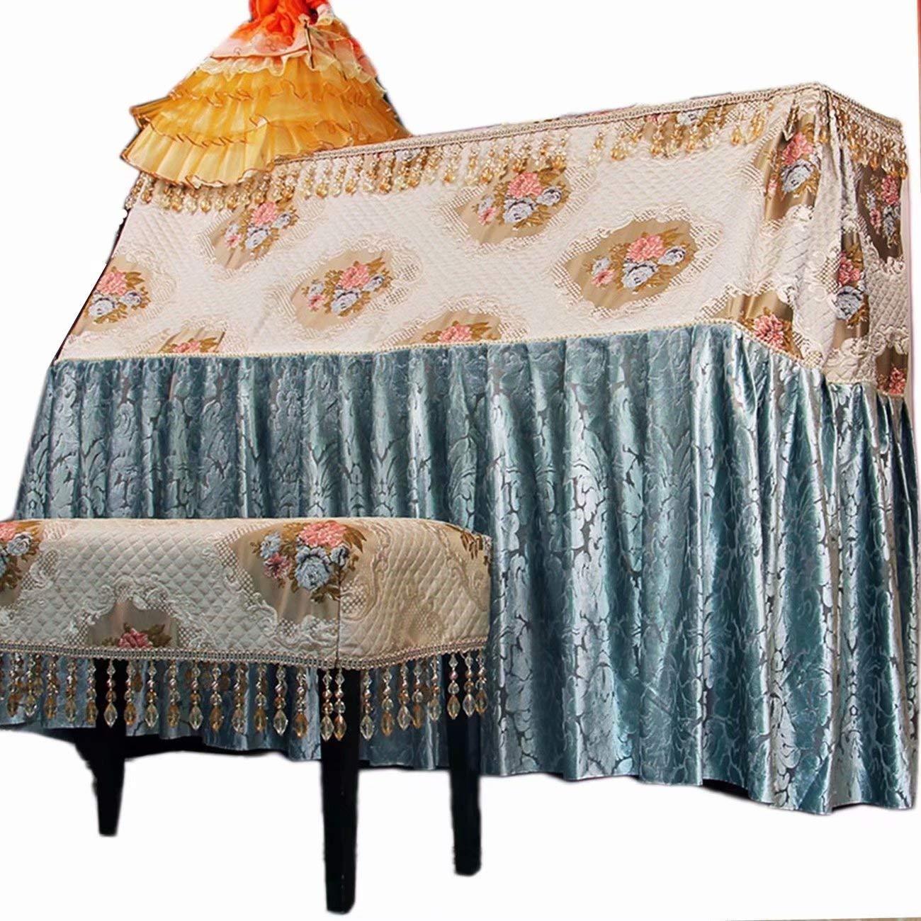 ピアノトップカバー 欧風 現代 トップカバー 刺繍 ピアノカバー シンプル アップライトピアノカバー 防塵カバー SFANYフルカバー間口153㎝+椅子カバー(1人掛け)タイプ1B07JVDVDR4