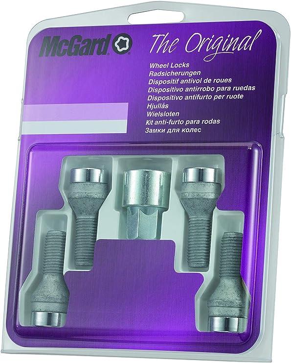 McGard 26001SL Dispositif antivol de roues et de pneus Ultra High Security /à assise plate SW19 Filetage M12 x 1,25 Longueur 32,5 mm