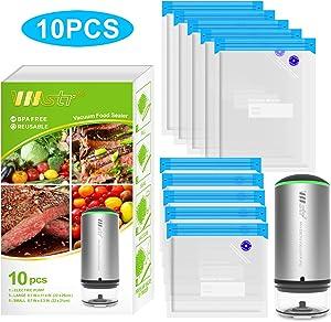 VMSTR Handheld Cordless Food Vacuum Sealer for sous vide cooking and Food Storage