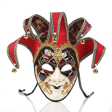 LHJCN Veneciano Máscara, Carnaval Mascarada navideña Disfraz ...