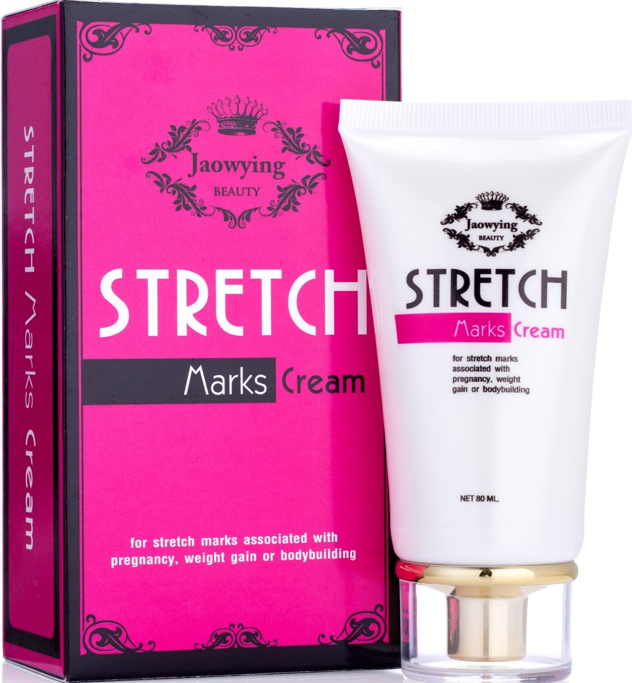 Stretch Mark Remover Cream - Safe Stretch Marks Removal Cream with Snail Secretion Filtrate, Tightens Loose Skin & Heals Stretch Marks Caused by Pregnancy, Weight Gain, Bodybuilding - NET 2.82 Oz. (80 G.)