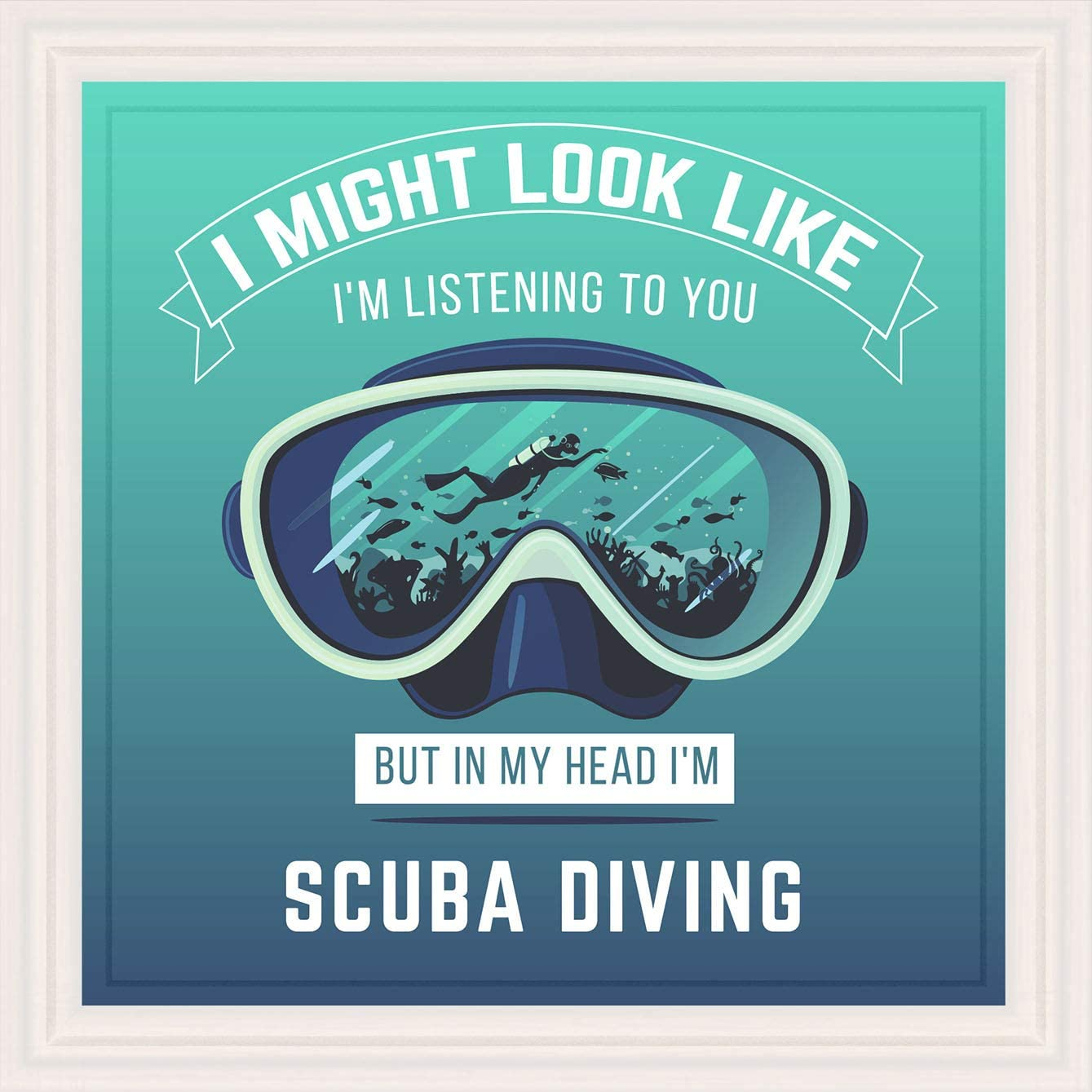 Gifts for Scuba Divers   7x7 Tile Artwork Ideal for Diver   Diving Themed Gifts   Present for Ocean Lovers   Scuba Gift   Scuba Diving Decor