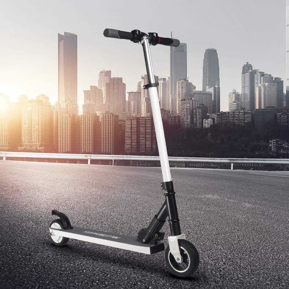 Per MEGAWHEELS Scooter eléctrico Plegable E-Scooter Ultra-Ligero Portátil Patinetes Electrónicos Adultos de Alumnio hasta 23 km/h para Niños Adultos (Blanco)