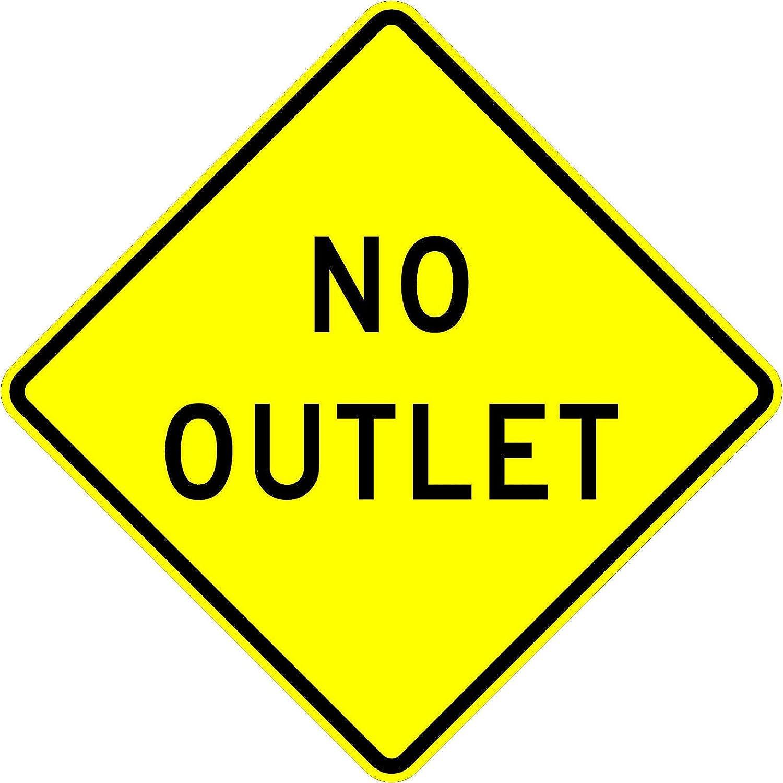 No Outlet Road Warning Traffic Wall Art Decor Novelty Street Aluminum Metal Sign