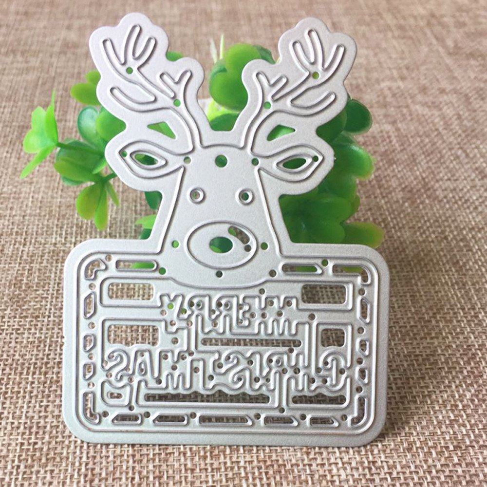 Birds Cage Cloudro Cutting Dies for Making Card Christmas Deers Tree Birds DIY Metal Cutting Dies Stencil Template Mould for Card Making Scrapbook Tool Embossing Album Paper Craft