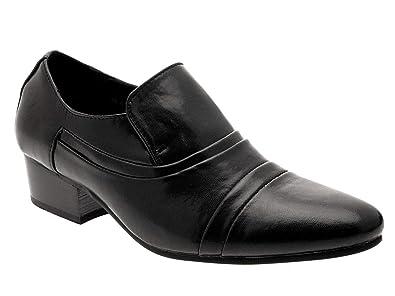 profesional a un precio razonable venta al por mayor Zapatos para hombre elegantes en negro con tacón cubano para ...