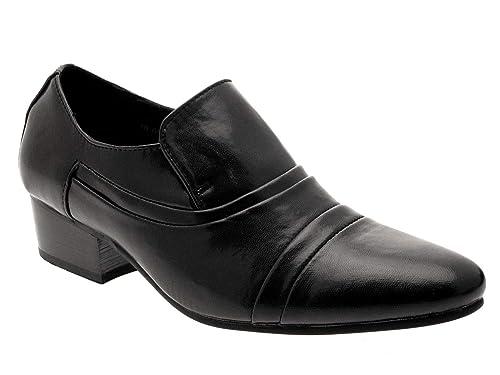 Zapatos para hombre elegantes en negro con tacón cubano para noche tallas 40-46 - Negro, 43: Amazon.es: Zapatos y complementos