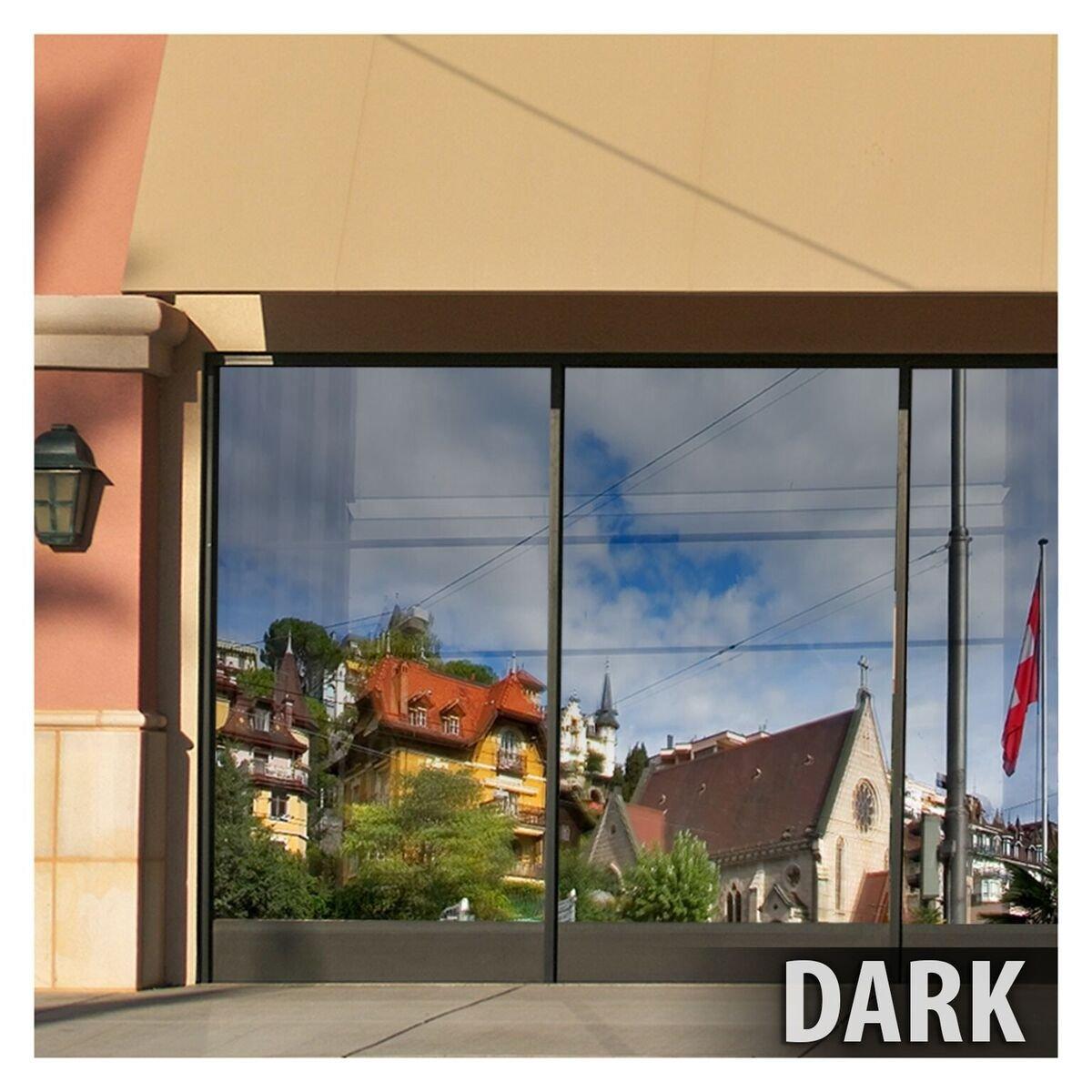 BDF S15 Window Film One Way Mirror Silver 15 (Dark) - 48in X 100ft by Buydecorativefilm (Image #4)
