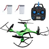 SGILE RC Quadcopter Gyro Drone Toy for Kids Birthday Gift Present with 360 Rotating Headless Mode Altitude Hold Mode for Beginners Kids Boys Girls Indoor or Outdoor Green