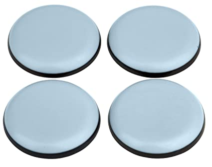 Teflon Furniture Gliders, Self-Adhesive, Diameter 40 mm, Round with PTFE  Coating, Laflon, Super Glides, Chair Glides, Set of 4