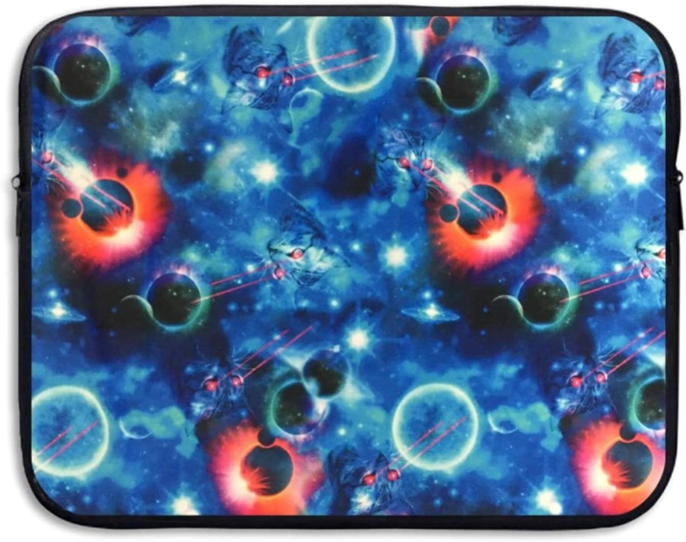 Business Briefcase Laptop Sleeve Abstract Trippy Blue Case Cover For Macbook Pro Air Lenovo Samsung Sony