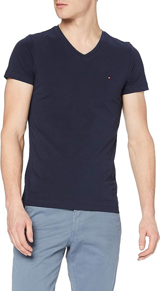 TALLA XS. Tommy Hilfiger Core Stretch Slim Vneck tee Camiseta para Hombre