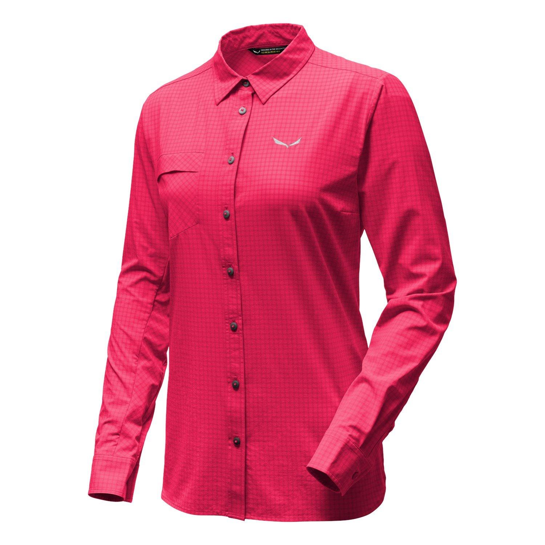 SALEWA Puez Minicheck Dry W L//S SRT Hemd Donna