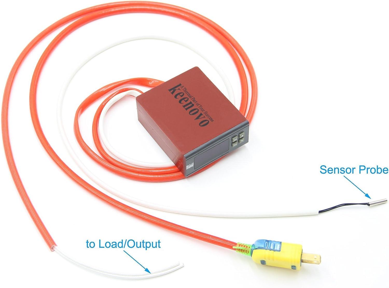 KEENOVO All-Purpose Digital Temperature Controller Box Fahrenheit & Centigrade Thermostat 30A 110V w/Control Range of -30C~300C