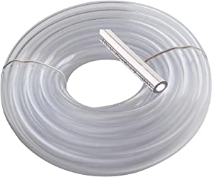 "utah pneumatic Vinyl Tubing 5/16"" Id 7/16"" Od 25 Feet Brewing Hose Food Grade Tubing Beer Draft Line Clear Tubbing Wine and Beer Making Bpa Free Tube Water Fountain Tubing Beverage Line"