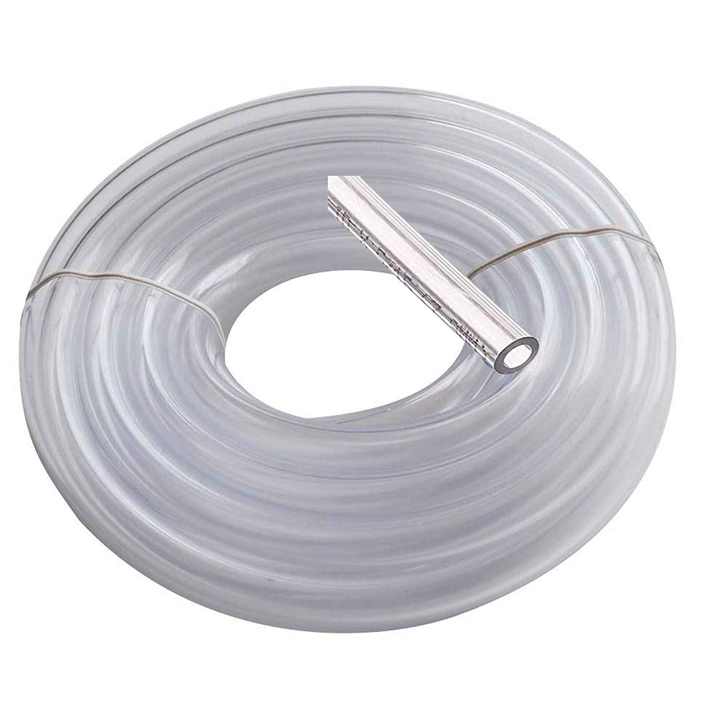 "Utah Pneumatic Vinyl Tubing 3/8"" Id 1/2"" Od 25 Feet Brewing Hose Medical Grade Tubing Beer Draft Line Clear Tubbing Wine and Beer Making Bpa Free Tube Water Fountain Tubing Beverage Line Food Grade"