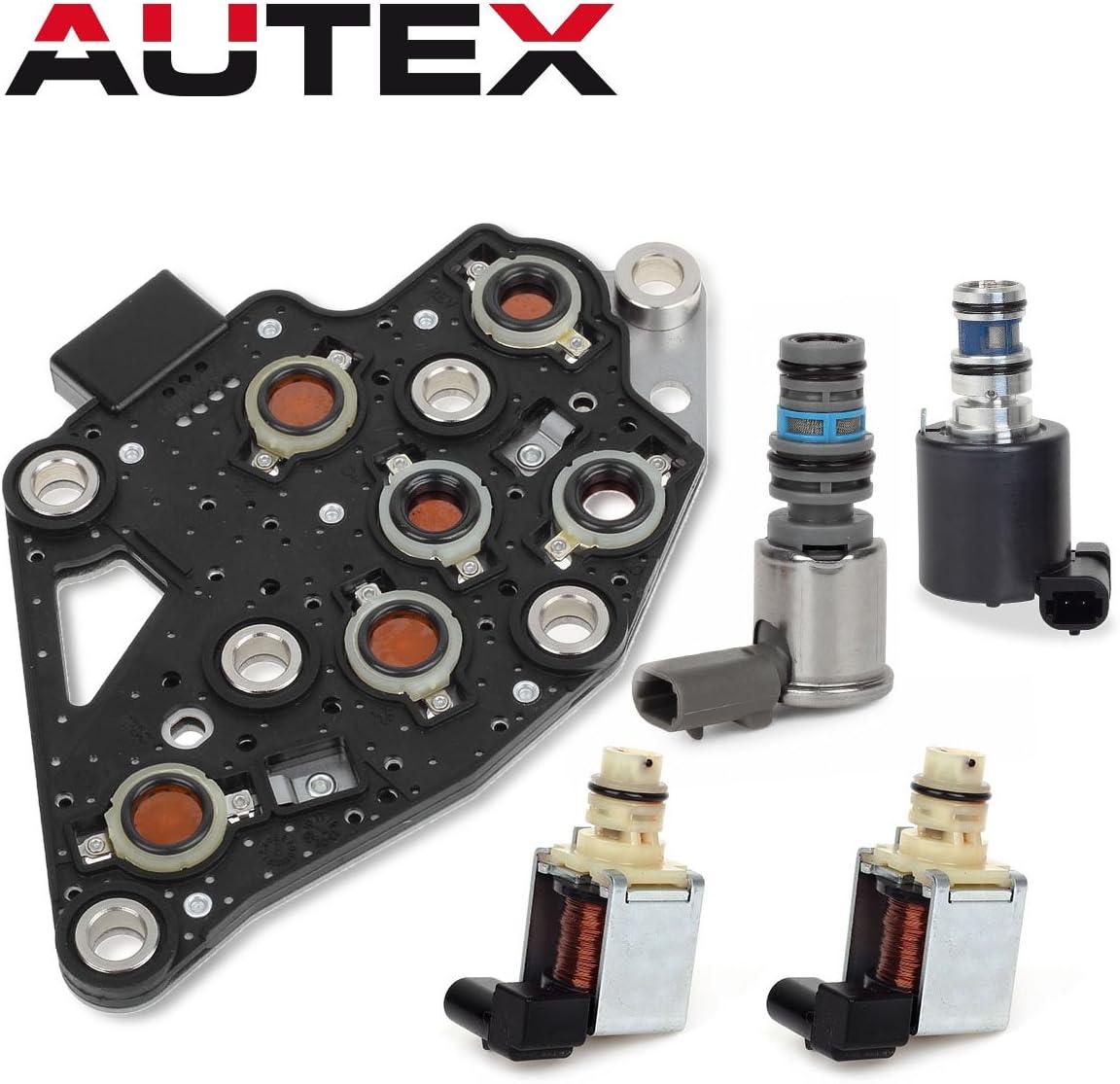AUTEX 4T65E Automatic Transmission Master Shift Solenoids EPC TCC Manifold Pressure Switch Set Kit Compatible With Volvo Chevrolet GM 1997-2002 10478124 24219819