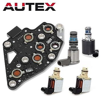 AUTEX 4T65E Automatic Transmission Master Shift Solenoids EPC TCC Manifold Pressure Switch Set Kit 10478124 24219819 Compatible With Volvo Chevrolet