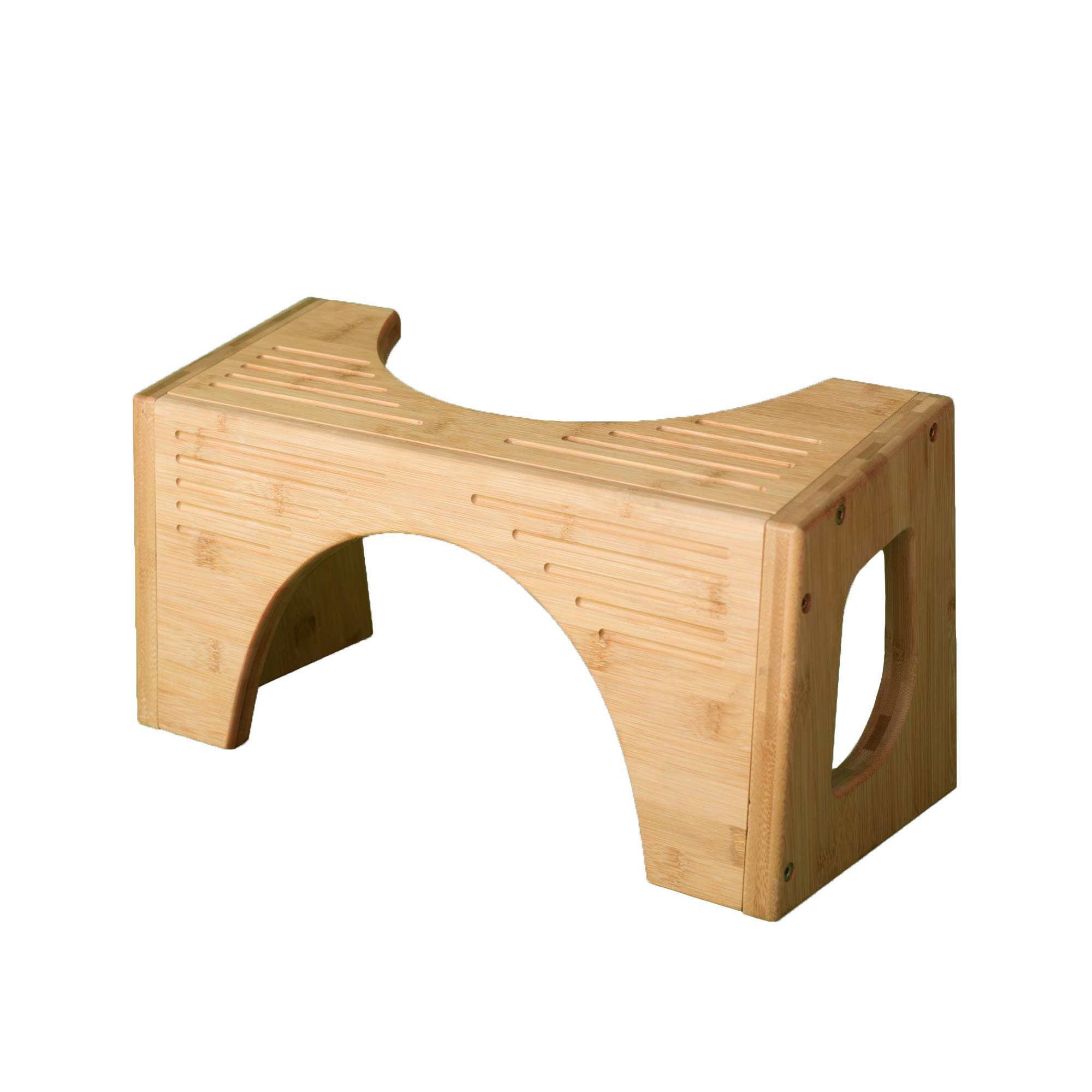Squatty Potty The Original Toilet Stool - Bamboo FLIP, 7'' & 9'' Height, Two Sizes-in-one