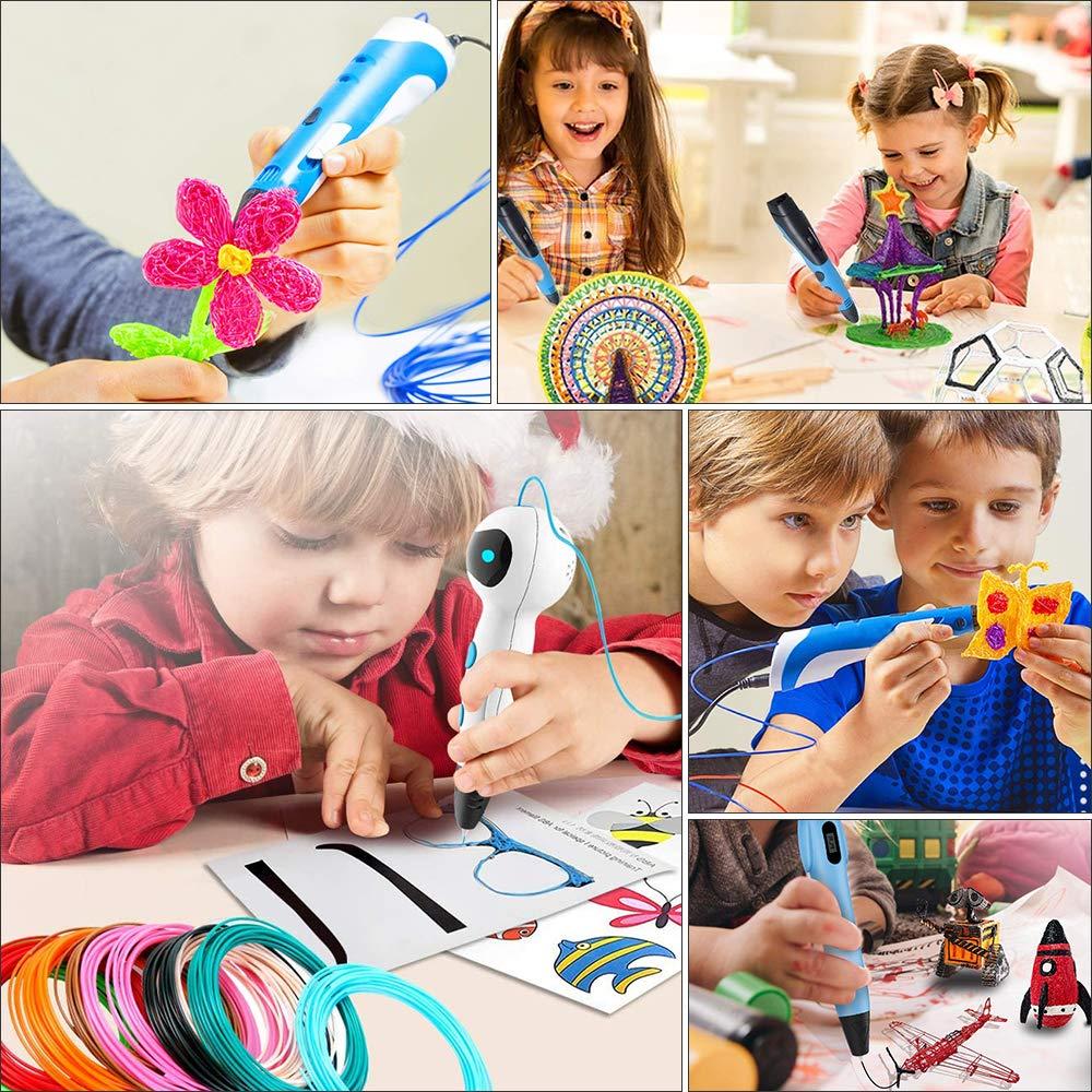 10 Colors 1.75mm PLA Filament 3D Pen Filament Rilitor 3D Printer Filament Biodegradable 3D Pen Filament Refill for Adults Doodler Kids 3D Pen Drawing Each Color 16 Feet Gobesty 3D Pen Filament