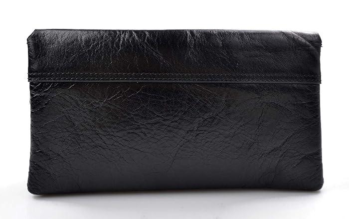 Embrague cuero bolso clutch negro bolso de embrague bolso de embrague cuero embrague de mujer embrague