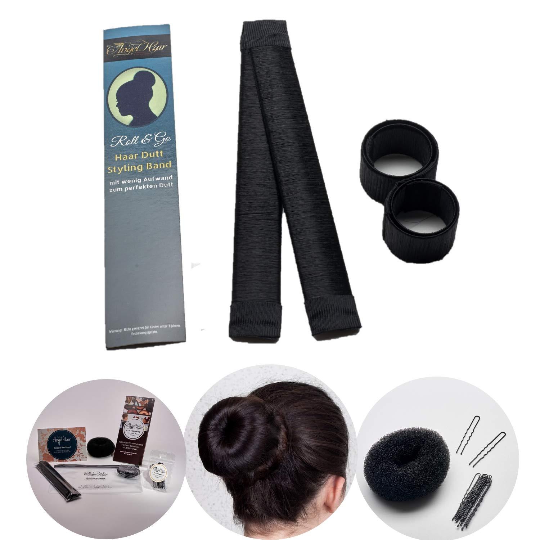 2 10x Damen Haar Dutt Hilfe Donut Hair Bun Maker Haarstyling Twister Tool Farben