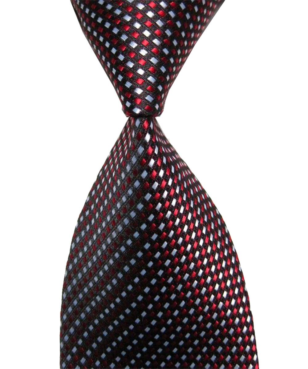 Wehug Lot 6 PCS Men's Ties 100% Silk Tie Woven Necktie Jacquard Neck Ties style003 by Wehug (Image #4)