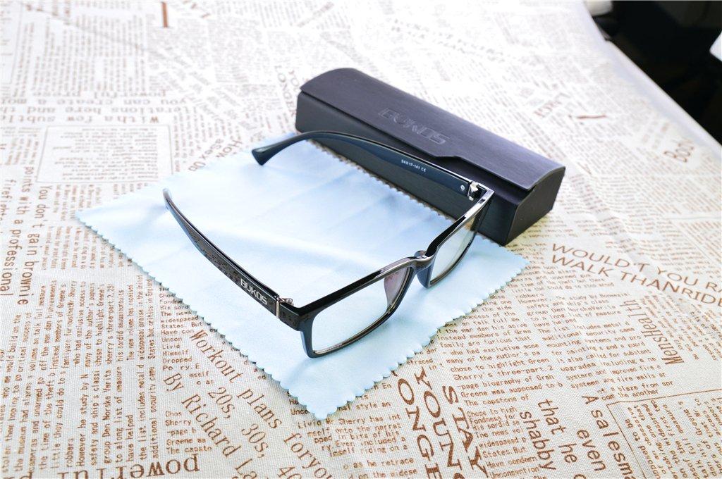 f1d7d7ce291 Blue Light Blocking Computer Glasses by Bukos - Men or Women - Sleep Better  - Protection - Eye Strain - Anti Glare   Fog - Night Driving - Gaming -  Filter ...