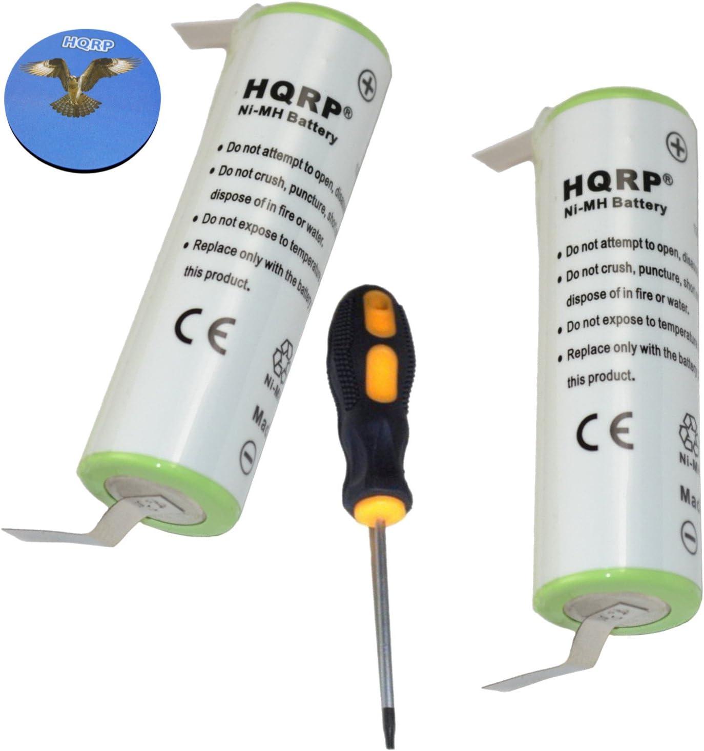 HQRP 2 baterías para Braun TriControl Modelo 4740, tipo 5714 Razor ...