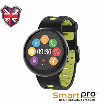 iSmart - Reloj Inteligente 2018 con Pantalla táctil de Color Circular y notificaciones Inteligentes, diseño Suizo, iOS y Android: Amazon.es: Electrónica