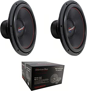 2 x 15 Subwoofer 2000W 4 Ohm DVC Pro Car Audio American Bass XO-1544