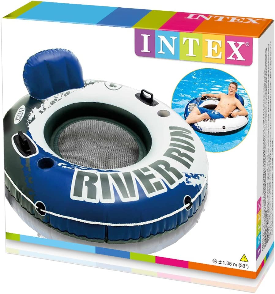 Intex 58825EU - Rueda hinchable River Run 135 cm diámetro azul ...