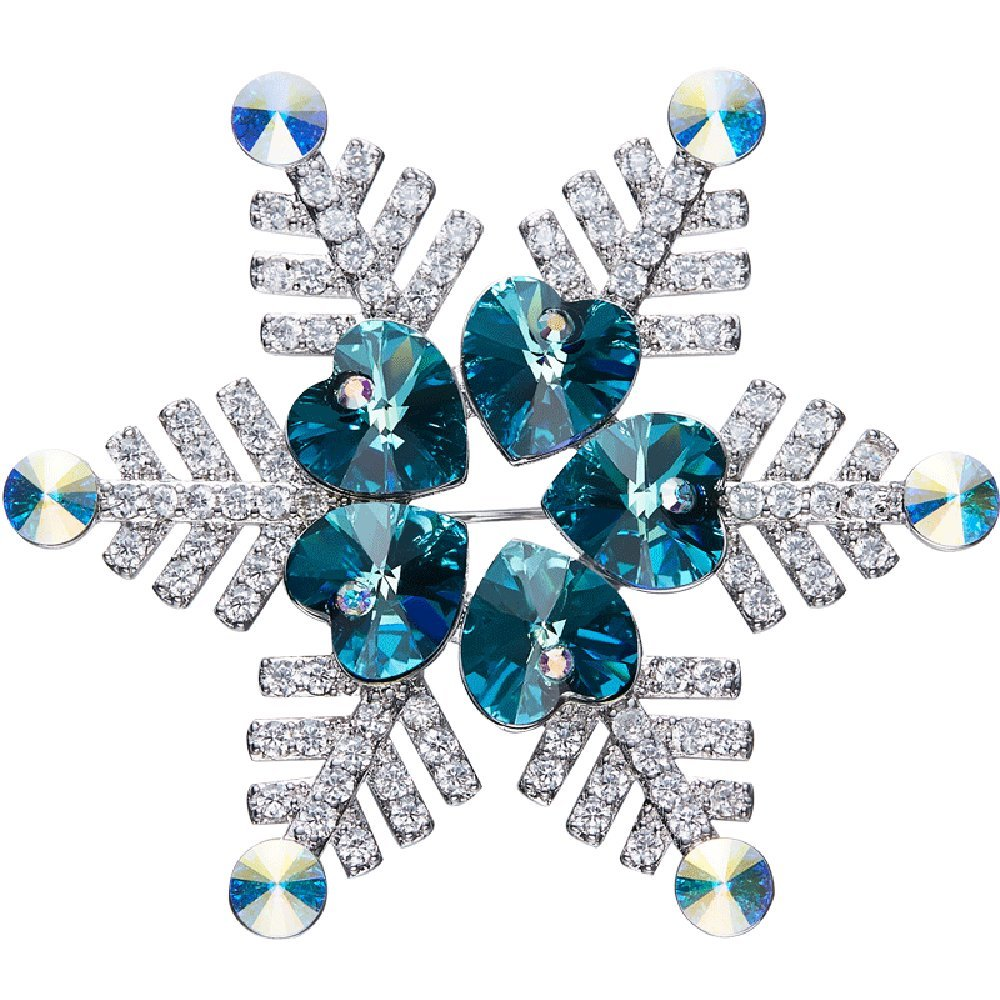 kaseStyle Blue Frozen Brooches Rhinestone For Bouquets For Women With Swarovski Crystals