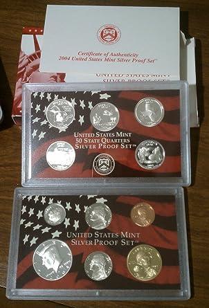 2003 United States Mint Silver Proof Set 10 coins w// Box /& COA US AC