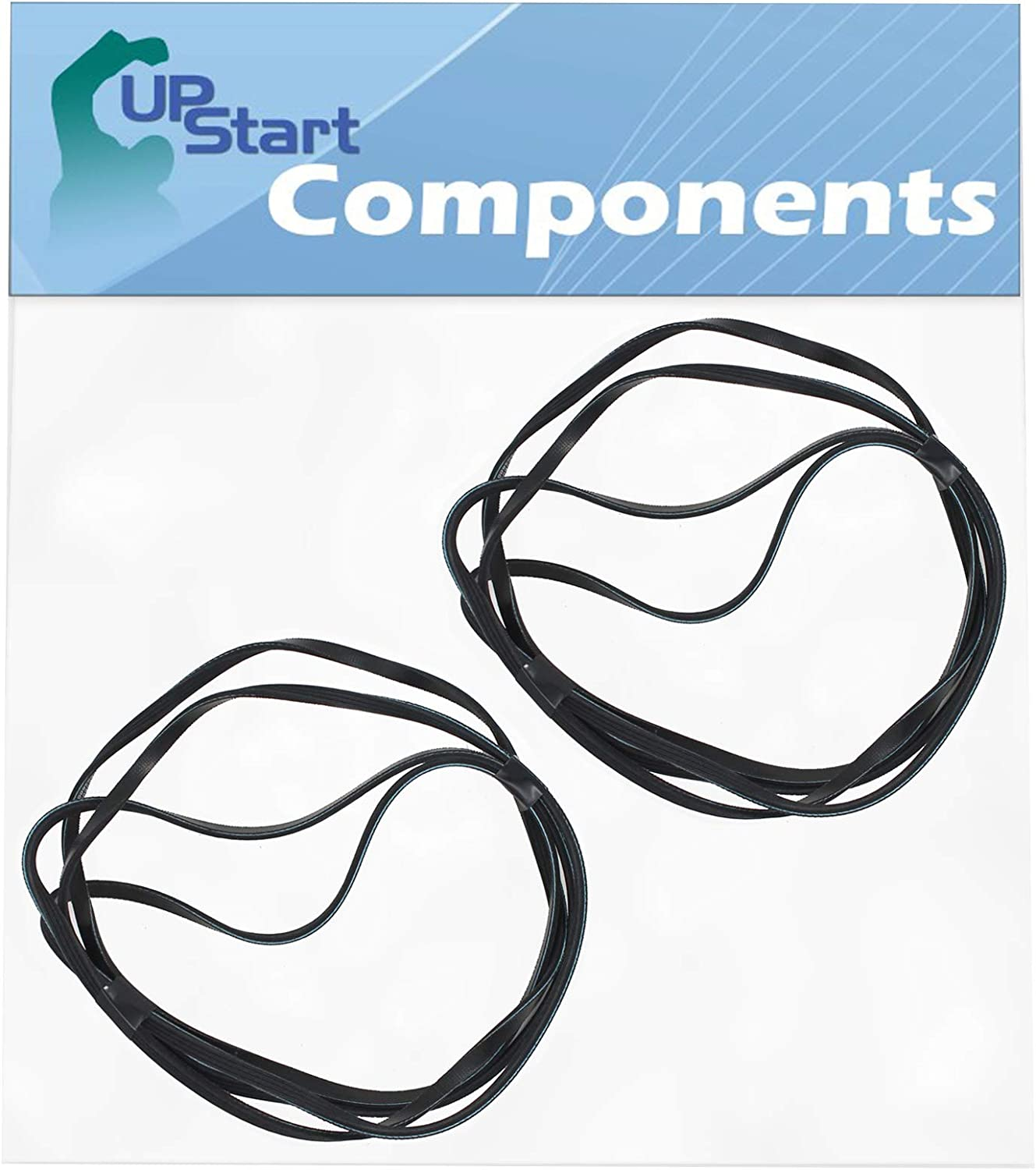 2-Pack 661570V Dryer Belt Replacement for Whirlpool WED9470WW1 - Compatible with 3387610 Drum Belt