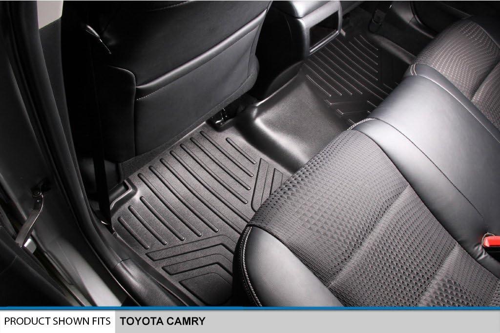 SMARTLINER Custom Fit Floor Mats 2nd Row Liner Black for 2012-2017 Toyota Camry