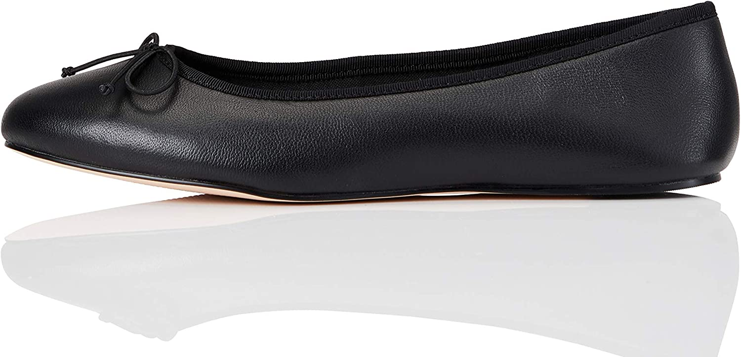 Amazon Brand - find. Women's Leather Ballet Flat