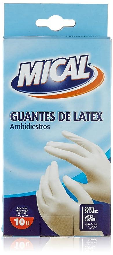 Mical Guantes de Latex, Ambidiestros - 10 Unidades